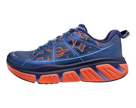 HOKA INFINITE BLUE  HOKA MENS RUNNING SHOES