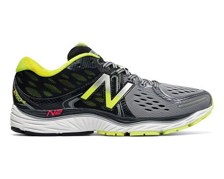 Mens New Balance M1260V6 Grey Yellow Running Shoes Z76940