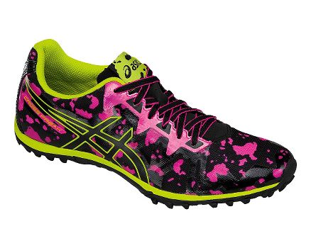 Women ASICS Cross Freak 2 Hot Pink/Black/Neon Lime