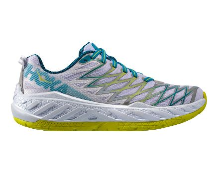 Hoka One One Women's Clayton 2 Running Shoe  White/Acid - JABKEYQ1R