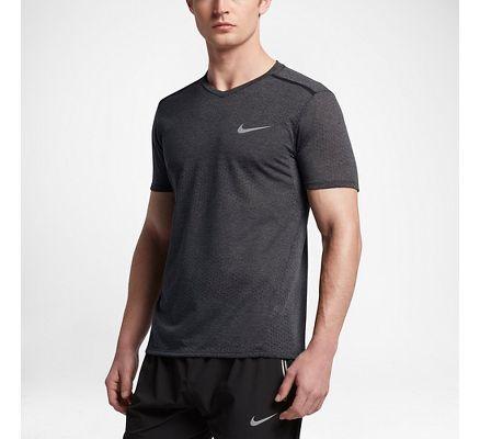 Nike Breathe Men's Short Sleeve Running Top Black/Heather