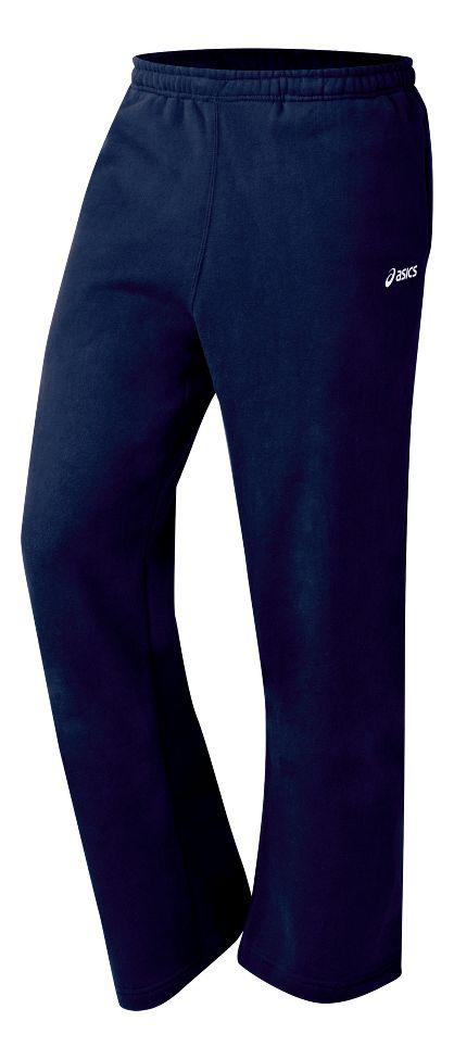Mens ASICS Fleece Pant Warm-Up Pants at Road Runner Sports