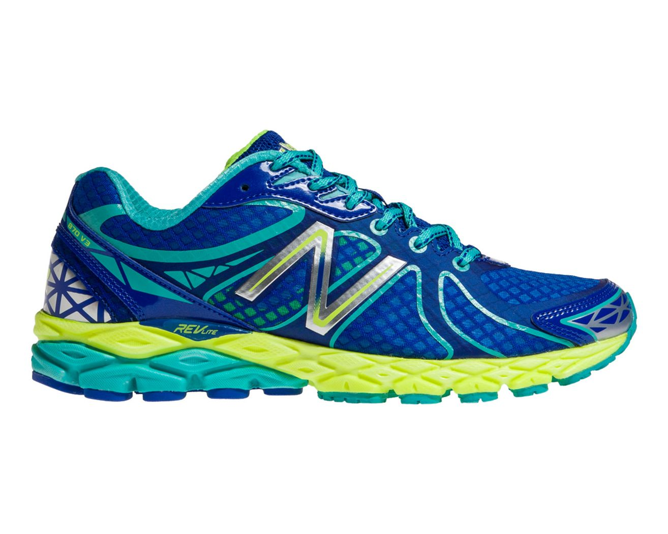 New Balance White Blue Ladies Running Shoes Running Shoes Balance 870v3 Ladies