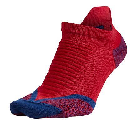 Nike Elite Cushioned No Show Tab University Red/Deep Royal Blue Running Socks