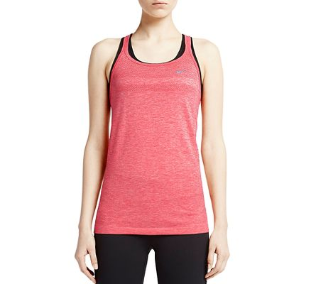 Womens Nike Dri-Fit Knit Strappy Tanks Technical Top at Road Runner Sports