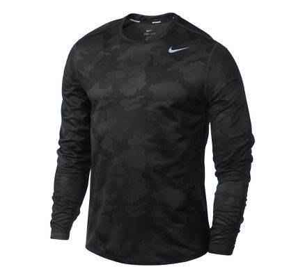 Nike Sublimated Camo Men's Long Sleeve Running Sjhirt